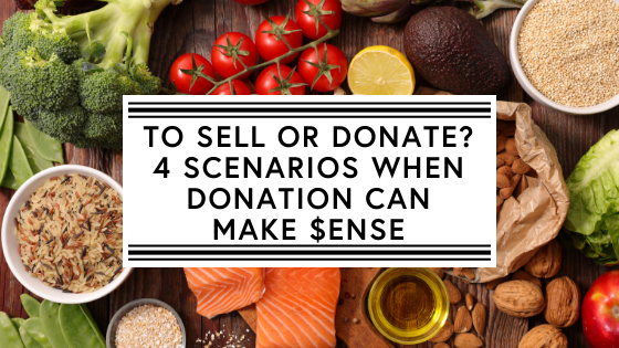 To sell or donate_ 4 scenarios when donation can make $ense