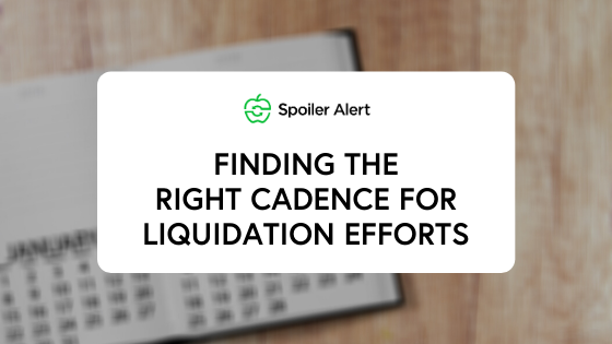 Finding the right cadence for liquidation efforts